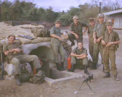 Members of 102 (Coral) Battery in Vietnam